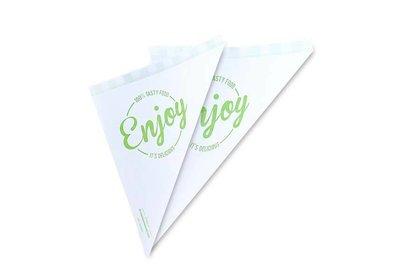 Papieren puntzakken take away Enjoy