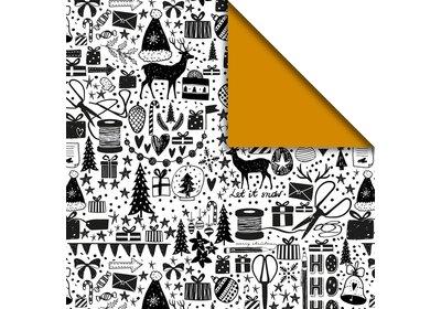 Kerst kadopapier 30/50 cm 200 meter x-mas art