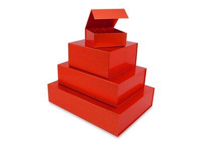Luxe magneet doos Rood + Glans laminaat