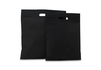 Budget Non Woven draagtas zwart leverbaar vanaf € 0,19 per stuk