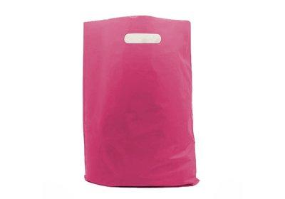 Plastic draagtas Pink SALE  á 1.000 stuks