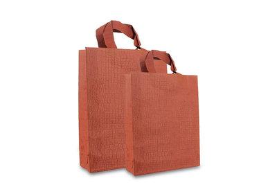 Zero Tree Eco draagtas papier/abaca croco look oranje