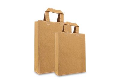 Zero Tree Eco draagtas papier/abaca leather look bruin