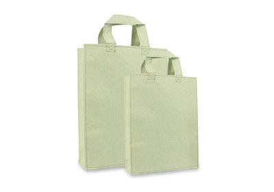 Zero Tree Eco draagtas papier/gras lichtgroen