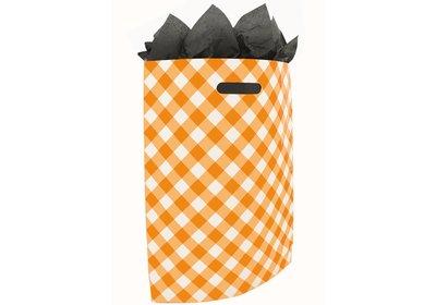 Plastic draagtas SALE Brabant bont oranje