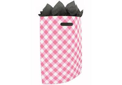 Plastic draagtas SALE Brabant bont roze