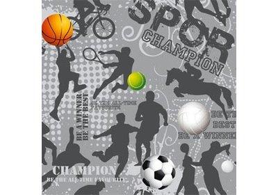 Kadopapier 30/50 cm 200 meter design sport