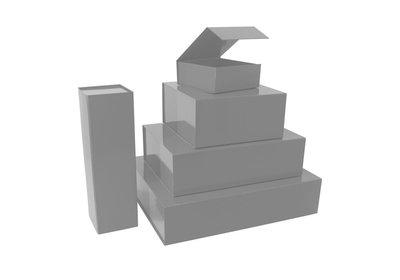 Luxe magneet doos Zilver + Glans laminaat
