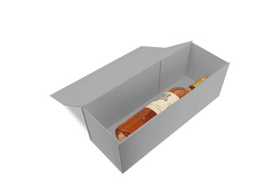 Luxe magneet doos zilver voor 1 fles