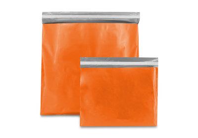 Plastic verzendzak oranje