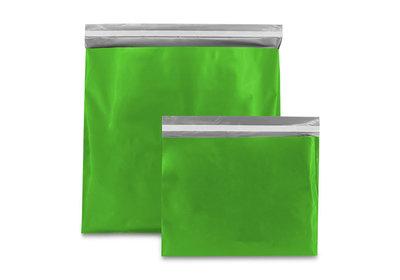 Plastic verzendzak groen
