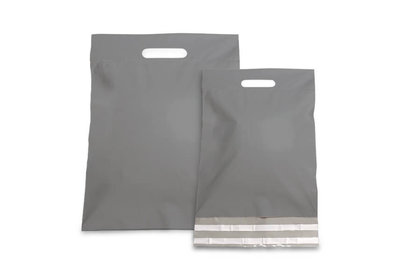 Plastic verzendtas zilver