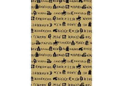 Sinterklaas kadopapier 30/50 cm 125 m. Sint stempel