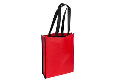 Non Woven Shopper Duotone rood/zwart