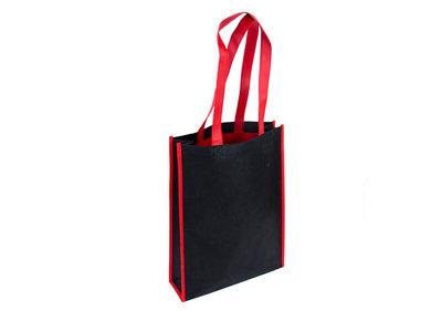 Non Woven Shopper Duotone zwart/rood