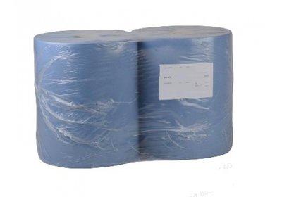Handdoek papier op rol 36x36cm á 360 meter blauw
