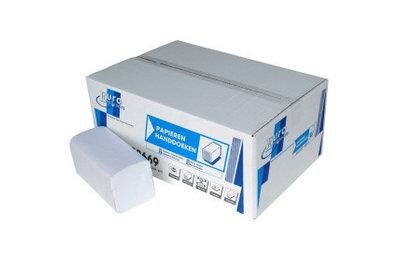ECO Papieren Handdoeken Z-Fold 2 laags 24 x21 cm Wit, 20x160st