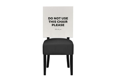 Papieren hoezen - Do not use this chair please