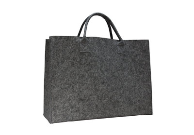 Vilt Luxe Shopper Donkergrijs
