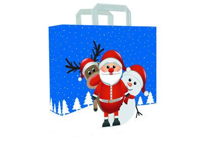 Papieren Kerst draagtas christmas friends