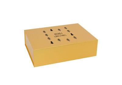 Luxe magneetdozen Kerst goud