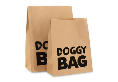 Papieren blokbodemzak Doggy Bag  Text
