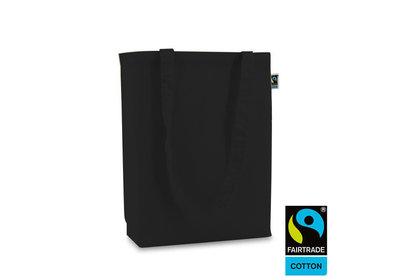 Katoenen Fairtrade draagtas zwart