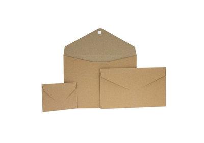 Papieren Geschenkenvelop Bruin Kraft
