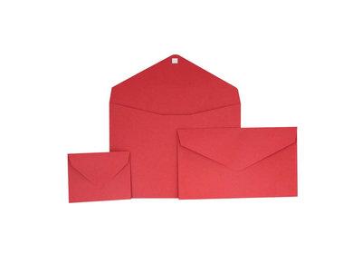 Papieren Geschenkenvelop Rood Kraft