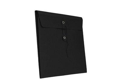 Papieren Geschenkenvelop Zwart Kraft met sluiting