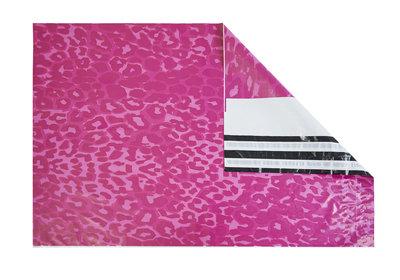 Plastic verzendzakken Pink Tijger Dessin á 500 stuks