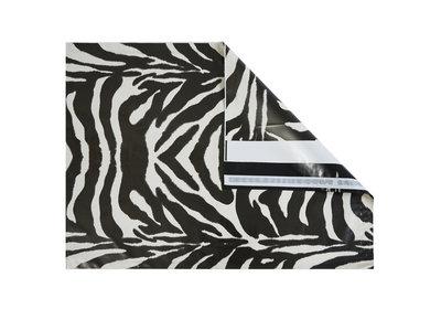 Zebra Plastic budget verzendzakken  á 250 stuks NIEUW
