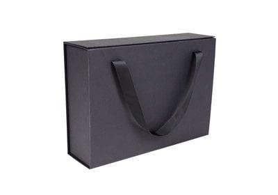 Luxe magneet doos Zwart + Luxe draaglinten