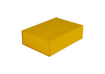 Luxe magneet doos Okergeel + Glans laminaat