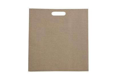 Budget eco papieren draagtas Bruin/wit