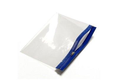 Polyzip  zakken met hersluitbare rits Blauw verpakt á 100 stuks