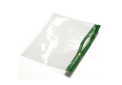 Polyzip zakken met hersluitbare rits Groen verpakt á 100 stuks