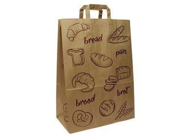 Eco papieren lus draagtas Brood