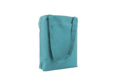 Katoenen Eco draagtas blauw