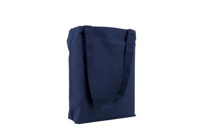 Katoenen Eco draagtas donkerblauw