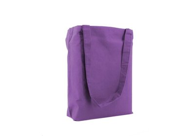 Katoenen Eco draagtas paars