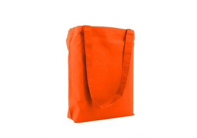 Katoenen Eco draagtas oranje