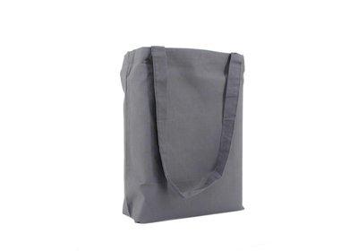 Katoenen Eco draagtas grijs