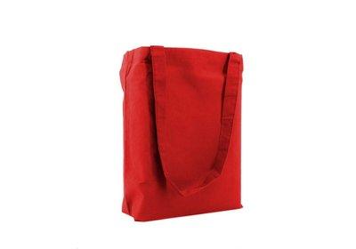 Katoenen Eco draagtas rood