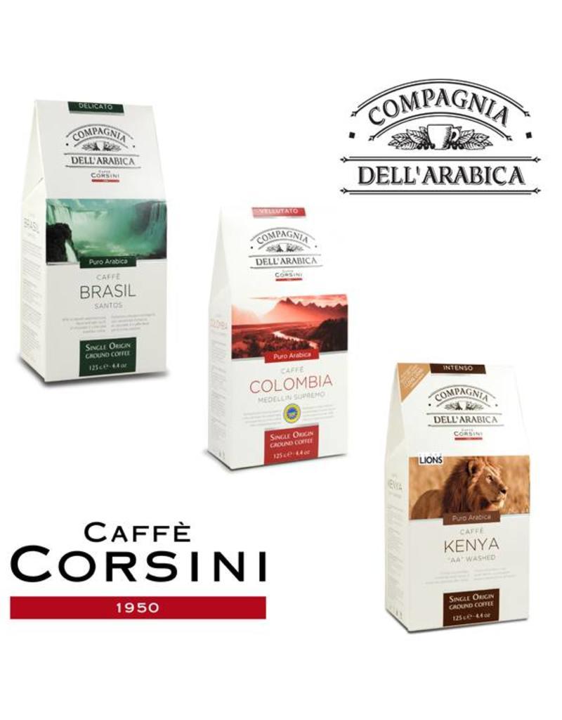 Compagnia dell'Arabica® Proefdoosje 'Single Origin' gemalen Arabica koffie 3x125 gram