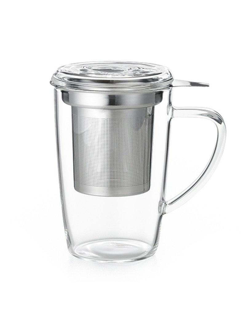 Tea Brokers Theeglas met RVS filter en deksel
