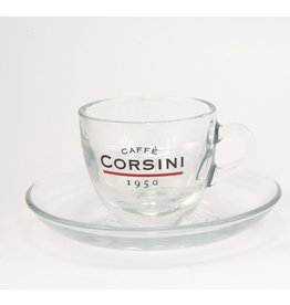 Caffè Corsini® 6 espresso kop- en schotels glas 70 cc