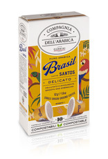Compagnia dell'Arabica® 10 composteerbare koffiecups Brasil Santos 'Single Origin' capsules voor Nespresso® machines