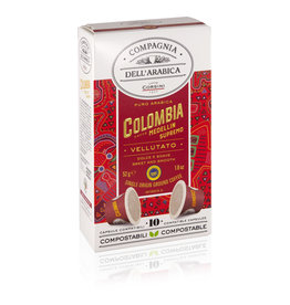 Compagnia dell'Arabica® 10 composteerbare cups Colombia Medellin Supremo 'Single Origin' geschikt voor Nespresso® machines