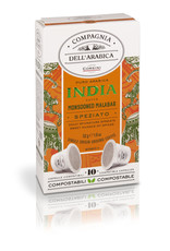 Compagnia dell'Arabica® 10 composteerbare koffiecups India 'Monsooned Malabar' 'Single Origin' capsules voor Nespresso® machines